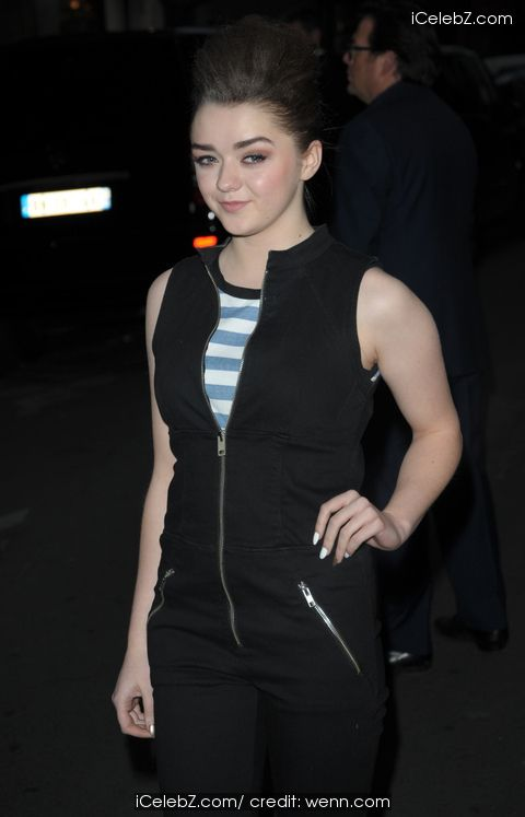 Maisie Williams  Game of Thrones Season 4 Premiere http://www.icelebz.com/events/game_of_thrones_season_4_premiere/photo4.html
