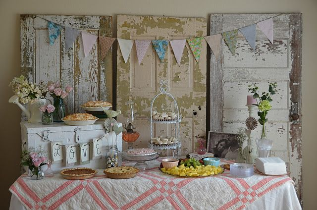 Shower- vintage shabby-chic-- party