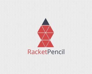 Racket Pencil Logo Design