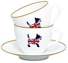 Union Jack Scottie Tea Cups