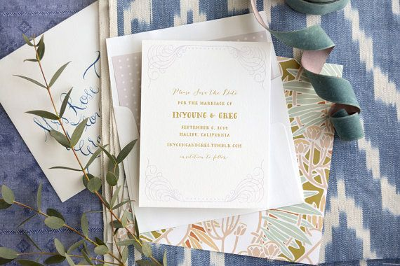 Save the Date Gold Save the Date Vintage Save the by HelloTenfold