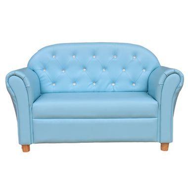 Buy Kid's Boys Blue Diamond Love Seat Sofa Couch at just $119.95.  #kidssofasaustralia
