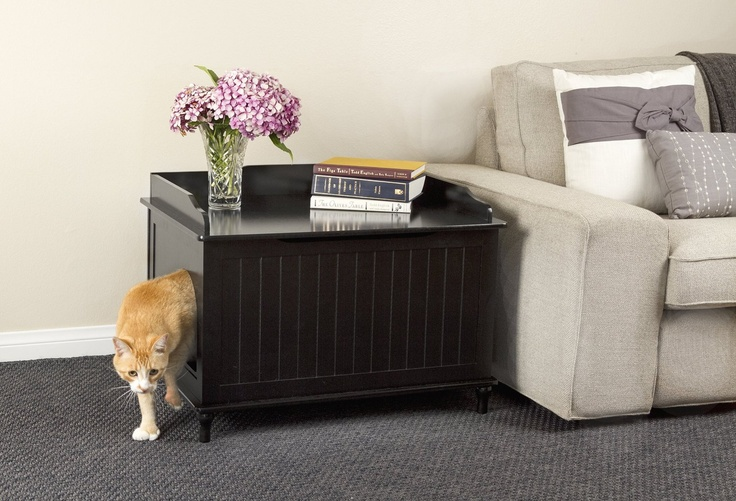 Amazon.com: Designer Litter Box – Finally a simple solution for that unsightly litter box. Great Idea! Let's leave it in the LIVING ROOM & Invite the family over for Pizza and a flick! ROFL