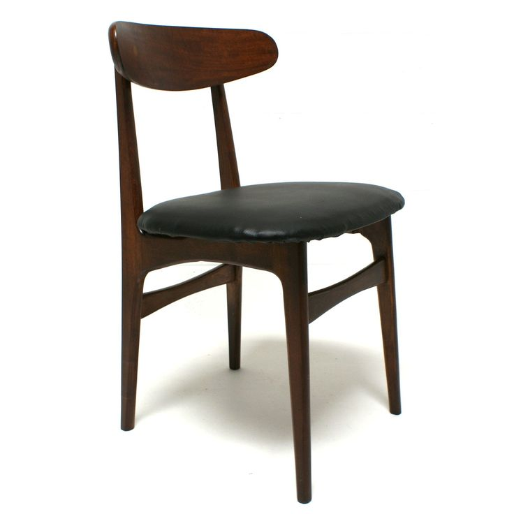 mid century walnut desk chair