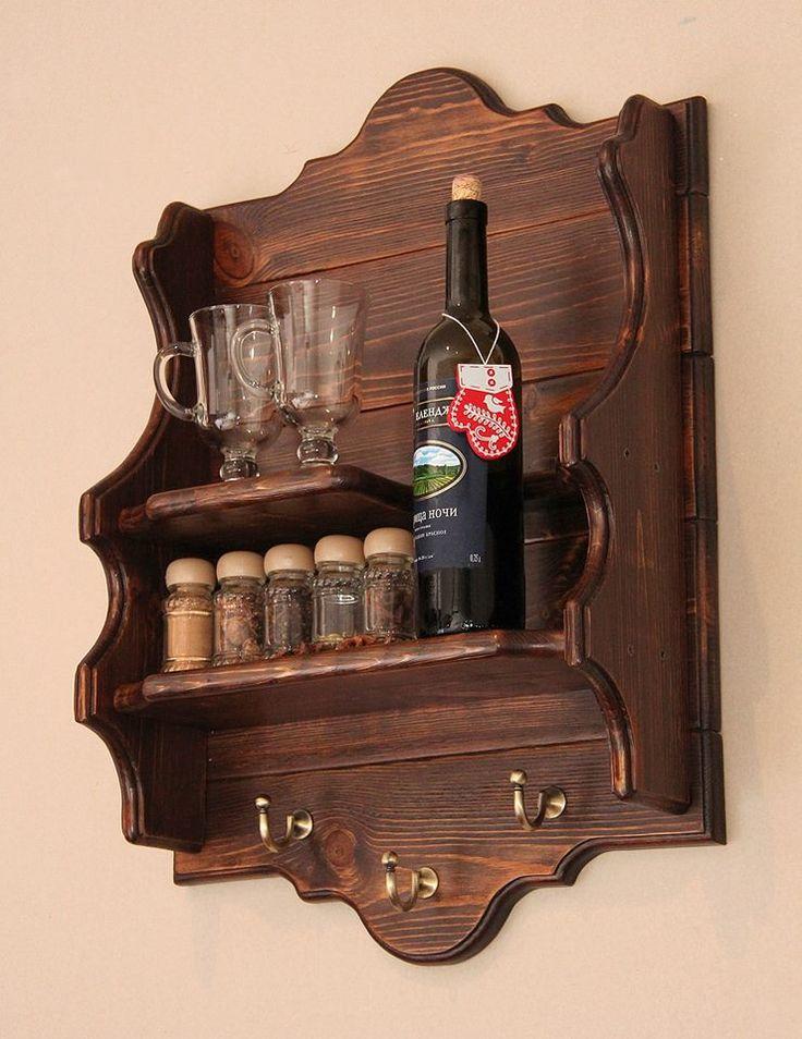 repisa madera vino