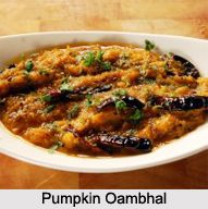 Pumpkin Oambhal is the regional dish of Assam. The pumpkin is cooked with the sweet and tangy flavours of jaggery and tamarind. To know more visit: #Food #Recipe #Cuisine