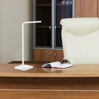 Lampe de table Milla – H50 cm – LED 5W – Pan International  La lampe de bureau Milla s'inscrit dans un design résolument contemporain. Elle possède des lignes épurées et géométriques, qui feront partie intégrante de votre décoration intérieure. Ce luminaire design trouvera sa place aussi bien dans un bureau, que sur une table de chevet. La lampe de table y apportera un éclairage LED efficace, que vous pourrez moduler grâce à son variateur de lumière intégré.