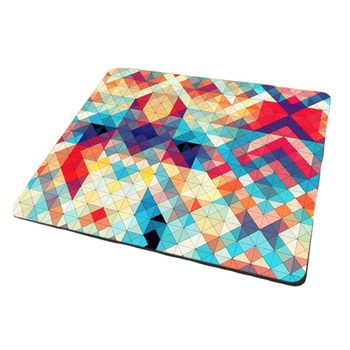 Colorful Grid Creative Computer Mouse Mat Thicken Mouse Pat