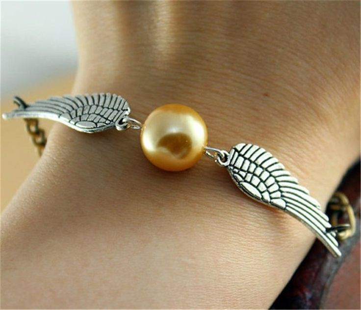 Quidditch Golden Snitch Pocket bracelets     Tag a friend who would love this!     FREE Shipping Worldwide     Buy one here---> https://ihappyshop.com/lbs-summer-style-movie-hot-movie-quidditch-golden-snitch-pocket-bracelets-for-women/