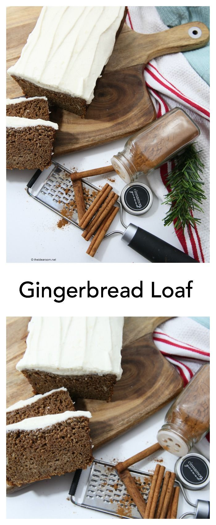 Recipes-Bread| Gingerbread Loaf with Cream Cheese Frosting