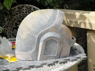 This helmet I had to try get done in a lot shorter time frame than the Thomas Helm, however I had a much more accurate Pepakura file for thi...