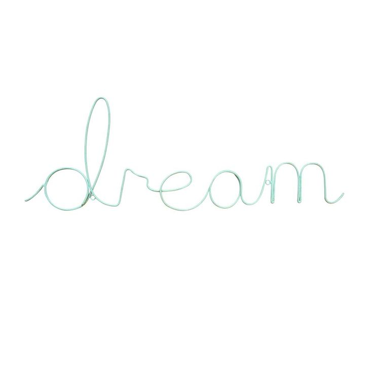 Superb ake a stylish statement with this mint green udream u wall decoration Crafted from aluminium this fun wall art makes the most of motivational sentiments