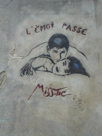"""l'émoi passe"" @Miss.Tic"