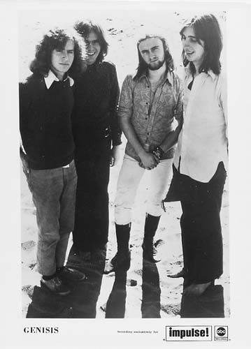 Tony Banks, Peter Gabriel, Phil Collins, and Mike Rutherford.