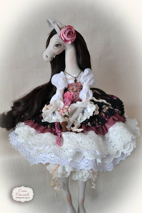 Interior doll Silvia ooak 22 art doll   horse-girl