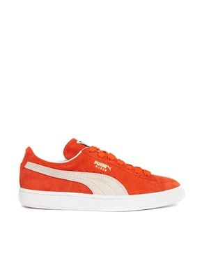 Puma Suede Classic Orange Sneakers, in the 80's I had damn near every color except these or gold!