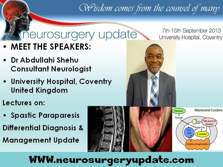 Neurosurgery Update Course 715th September 2013