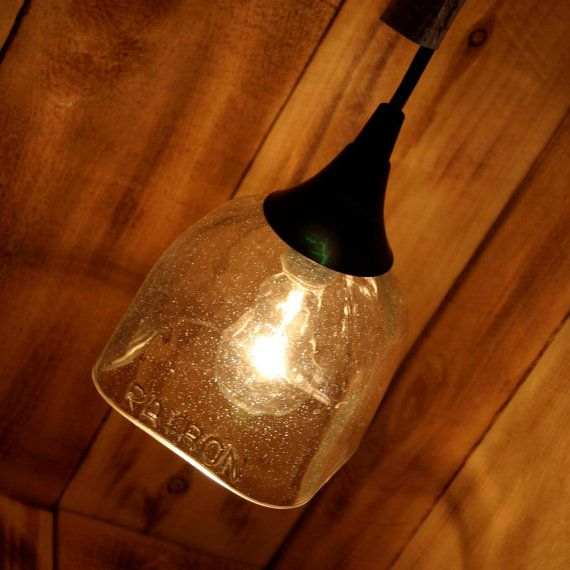 Patron Tequila Hanging Pendant Lamp made from an upcycled by pic76, $69.00