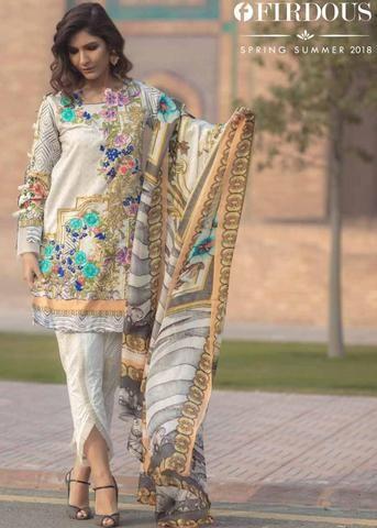 8e6c0e7ec4 Firdous Lawn Suit, Ladies Designer Replica, Online Clothes Shopping ...