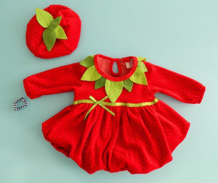 Çilek modeli bebek kıyafetleri. Artık bebek kıyafetleri daha renkli daha cıvıl cıvıl olacak herşey http://www.bebeksehri.com da.