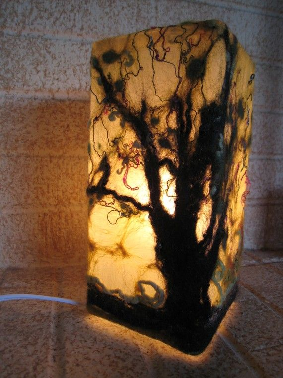 Mesquite in Winter Nuno Glow Table Lamp by spiritedhandsstudio