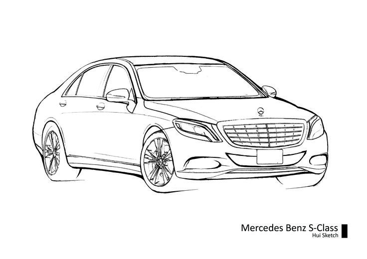 how to draw a mercedes benz easy