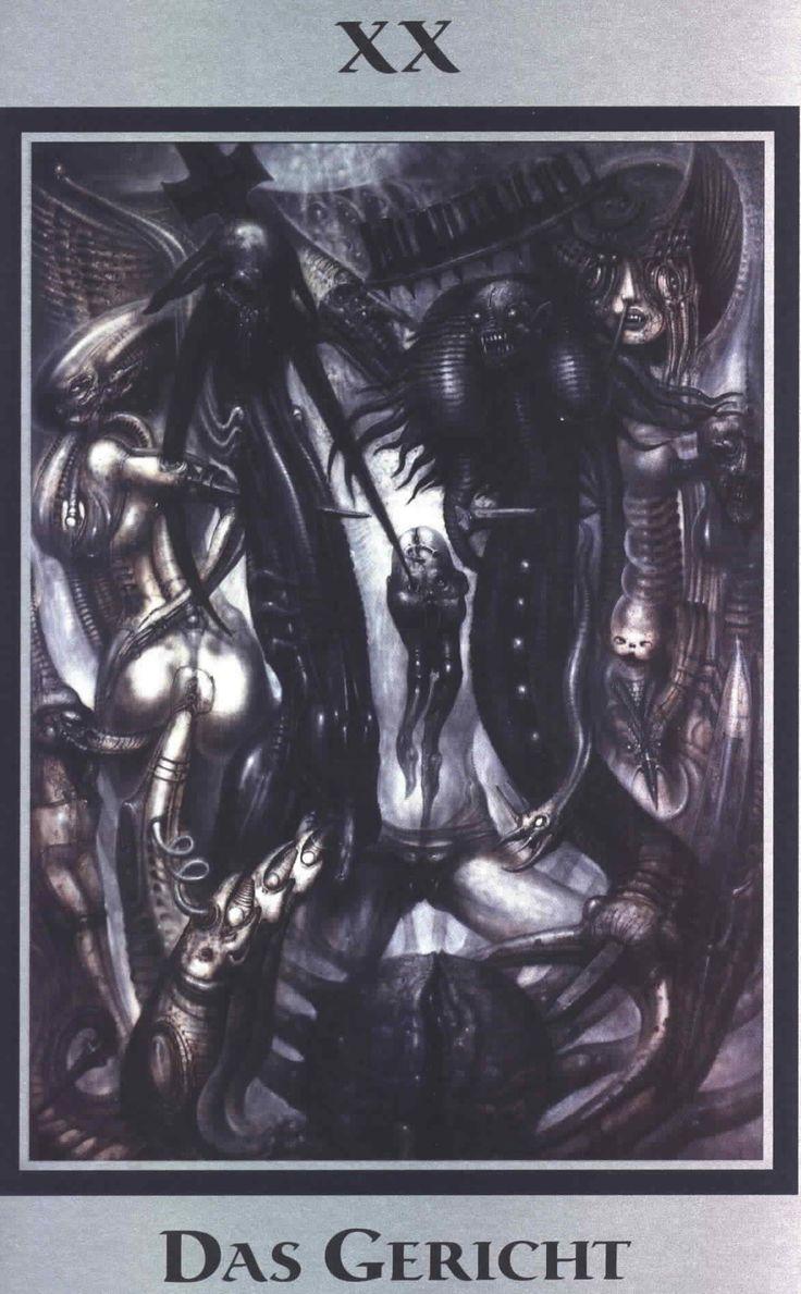 H.R. Giger   Baphomet Tarot   XX Part 44