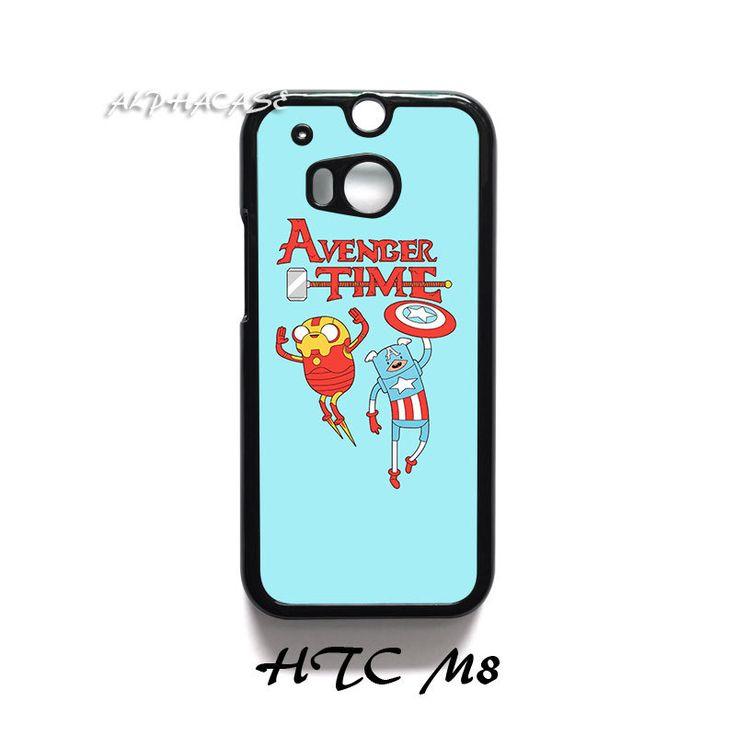 NEW Adventure Time Avenger Iron Man Captain America HTC M8 Case Cover