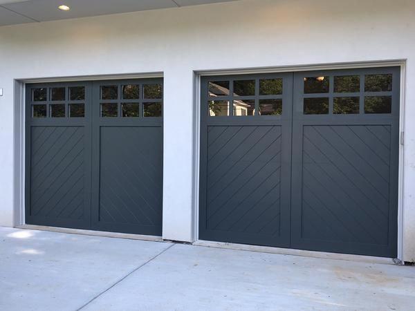 This Kind Of Blue Garage Door Is Certainly An Inspirational And Amazing Idea Bluegaragedoor Custom Wood Garage Doors Garage Door Styles Wood Garage Doors