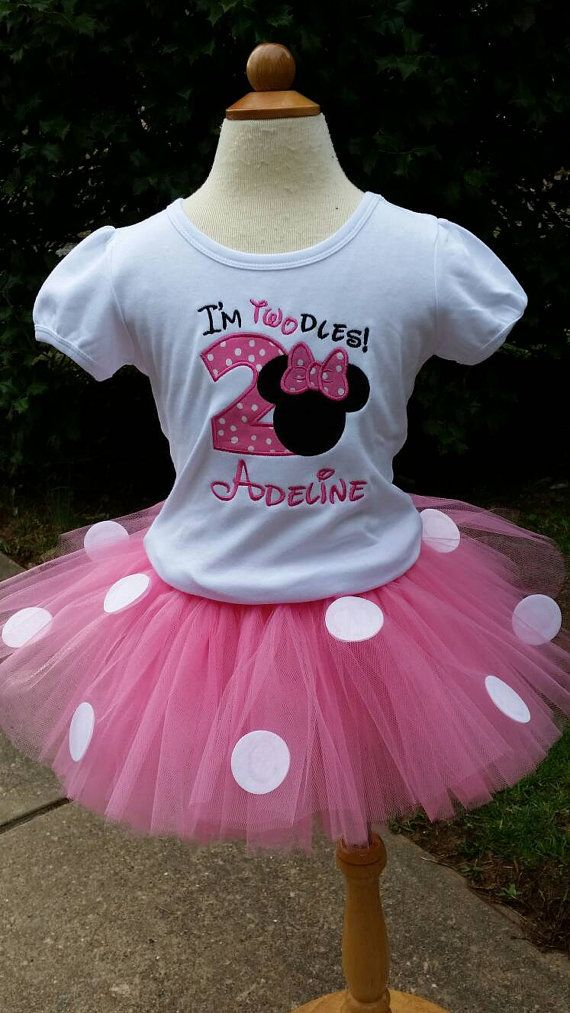 Minnie Mouse Birthday outfit Shirt ONLY by LilMonkeyStitchesWV