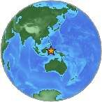 Earthquake location 1.975°N, 126.546°E