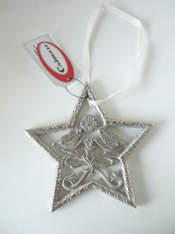 IJzeren ster met mooi werkje | Kerst | Boomhangers | Kerst accessoires | De Kadootjeszolder