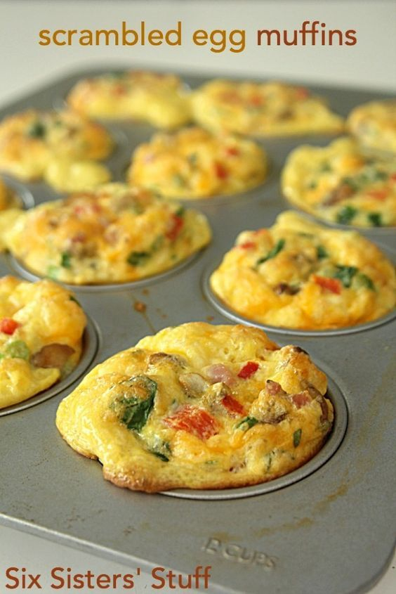 Scrambled Egg Breakfast Muffins on SixSistersStuff.com