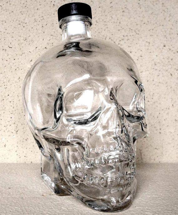 Crystal Head Vodka calavera cristal 1750 ml gran jarra nueva vacía Botella Magnum