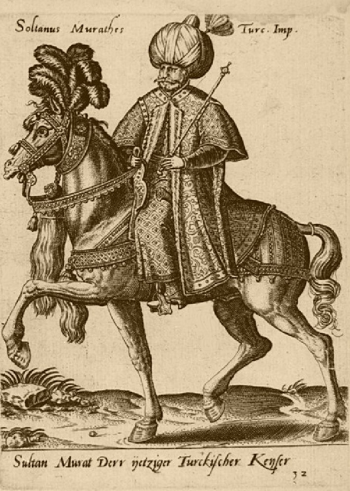 Sultan Murad III, From Abraham De Bruyn's costume book Diversarlum Gentium Armatura Equestri, the first plates of which are dated 1575.