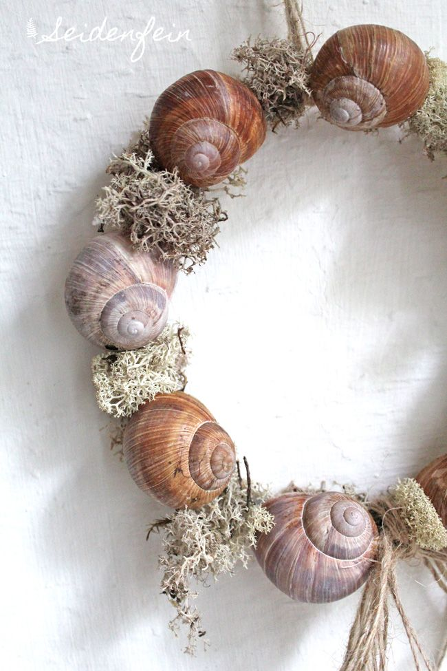 Frühling, Waldspaziergang, Frühlingsblumen, Schnecken, Kranz, DIY, Naturdeko, spring, springtime, forest walk, german forest, snails, nature decoration, wreath, snailwreath, landleben, Wald, forest, country life, seidenfein #Snails