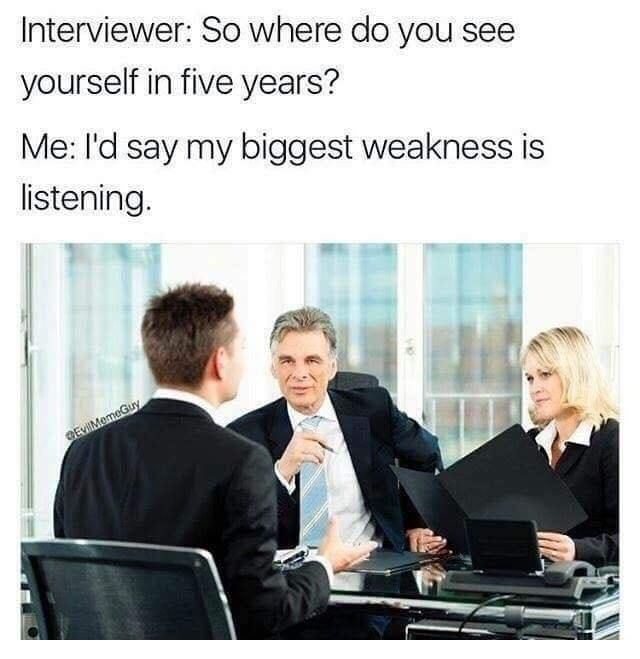 Interview jokes