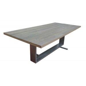 table de salle manger rectangulaire safina utilisation du chne franais alli lacier des pieds pour une table de repas lgante et raffine - Pied Rectangulaire Pour Table