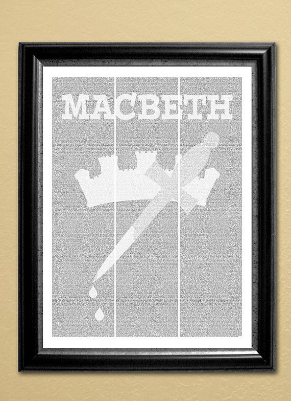 Macbeth, full-text poster, 16x20 in. (Instant Download)