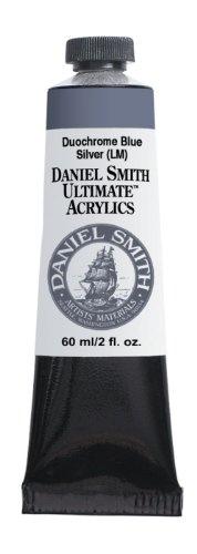 Daniel Smith 60ml Ultimate Acrylic Paint Tube, Duochrome, Blue Silver $4.60