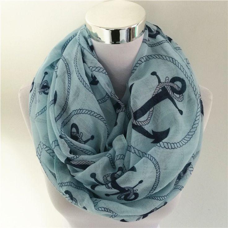 New fashion brand loop scarf women High quality fashion winter anchor long scarves women infinity scarf female bufandas mujer
