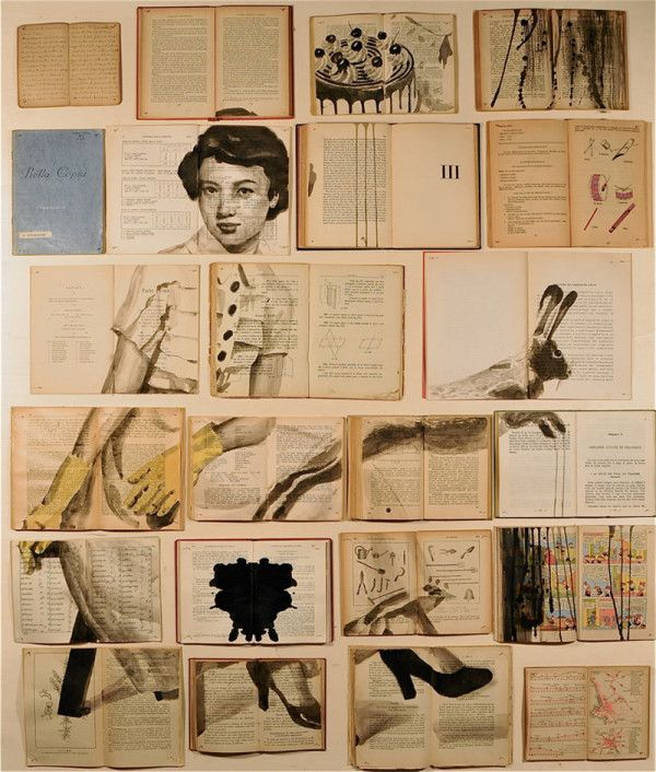 Ekaterina Panikanova is a Russian artist who saves old books and reinvents them as canvas by painting individual scenes onto the pages.