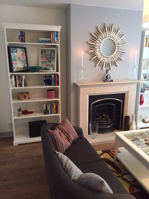 Living room featuring our silver cimiero mirror as show on the Cowboy Builders & Bodge jobs TV show.