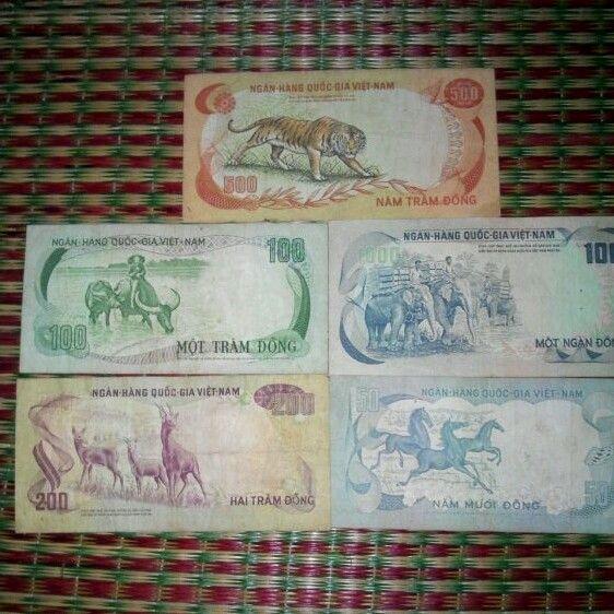 Bộ tiền thú 5 con. Giá 250k/bộ
