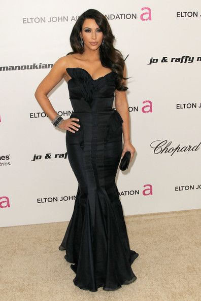 Kim Kardashian - 19th Annual Elton John AIDS Foundation's Oscar Viewing Party - Arrivals