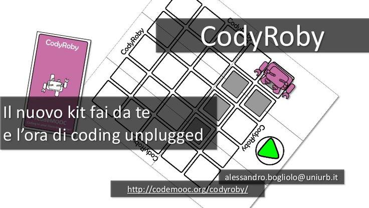 Il nuovo kit fai da te e l'ora di coding unplugged http://codemooc.org/codyroby/