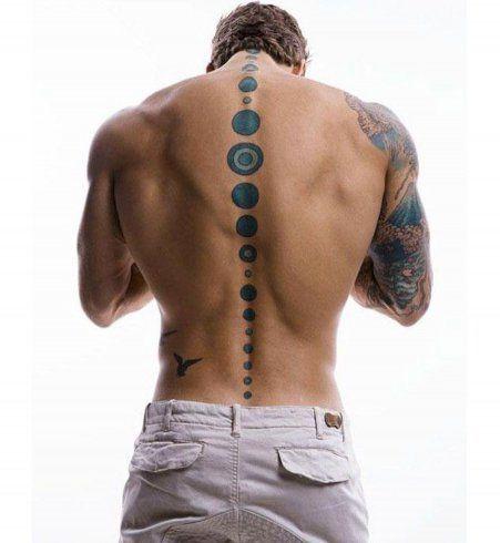 Tatouage sexy pour homme : la colonne vertébrale tatouée                                                                                                                                                                                 Plus