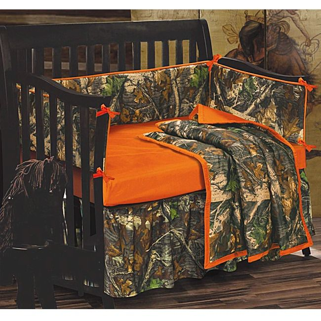 camouflage home decor | Camo Baby Crib Bedding Set Oak Camouflage | MonsterMarketplace.com