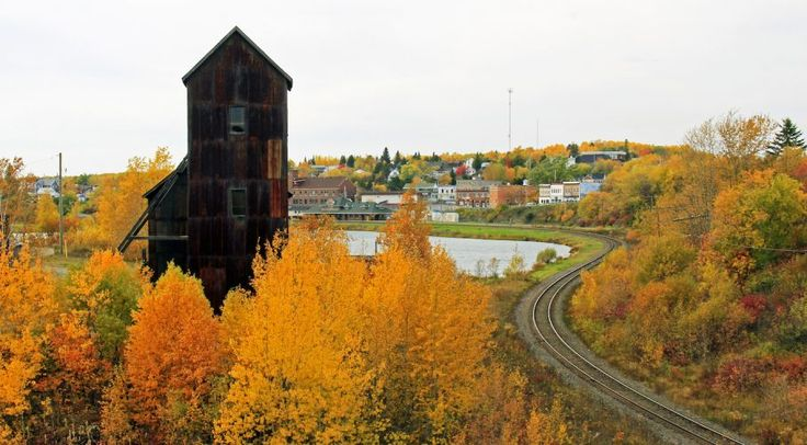 Cobalt Headframe with fall colours.  Thanks to Sue Nielsen for the great photo.   Temiskaming Fall Colours Northern Tour