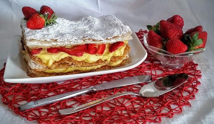 Torta millefoglie | Millefeuille cake recipe
